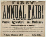 Fayetteville's First Annual Colored Agricultural and Mechanical Fair