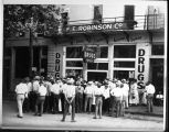 Crowd in front of Robinson's Drugtore in Dayton