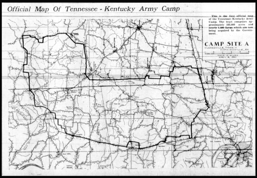 Camp Campbell Kentucky-Tennessee map - Education Outreach ...
