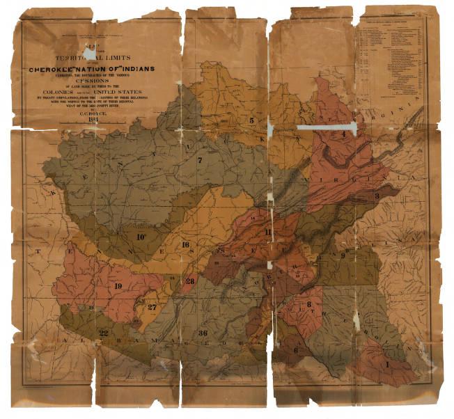 Cherokee Map on