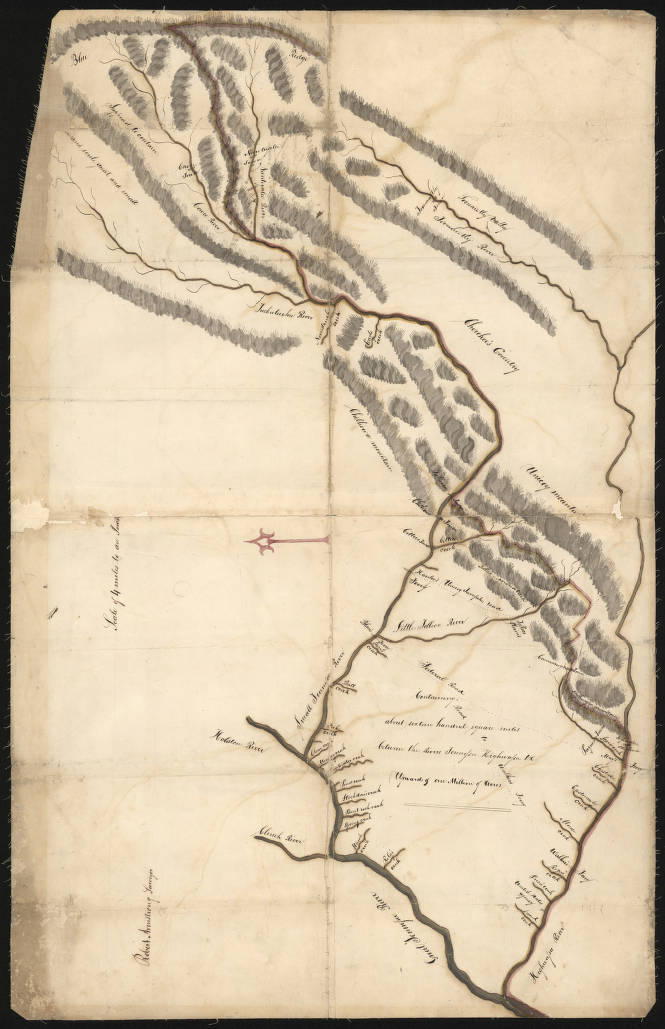 Survey map of Cherokee lands in East Tennessee - Maps at the ...