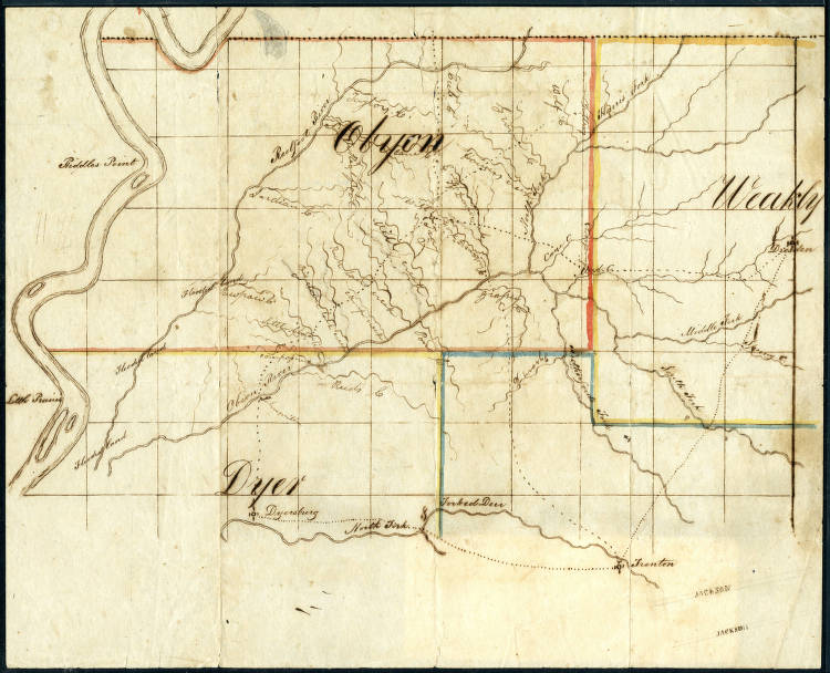 Map Of Northwest Tennessee Approximately 1832 Maps At The