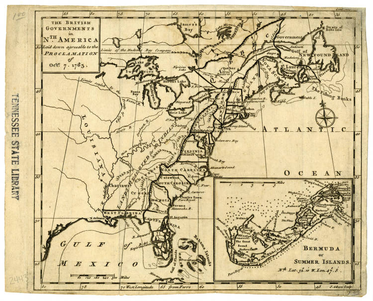 Map Of North America 1763.Map Of British Governments In North America 1763 Maps At The