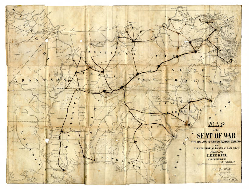Civil War map of the Seat of War - Maps at the Tennessee ...