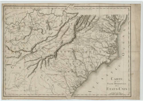 French map of early Southeastern United States - Maps at the ...