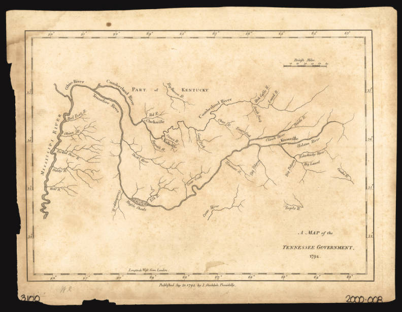 A map of the Tennessee government 1794 - Maps at the ...