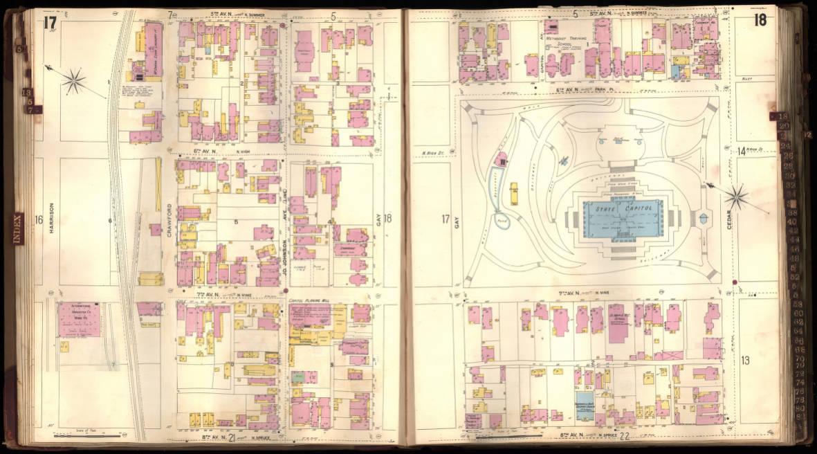 Sanborn Fire Insurance Map Of Nashville Tenn 1897 Rev 1911